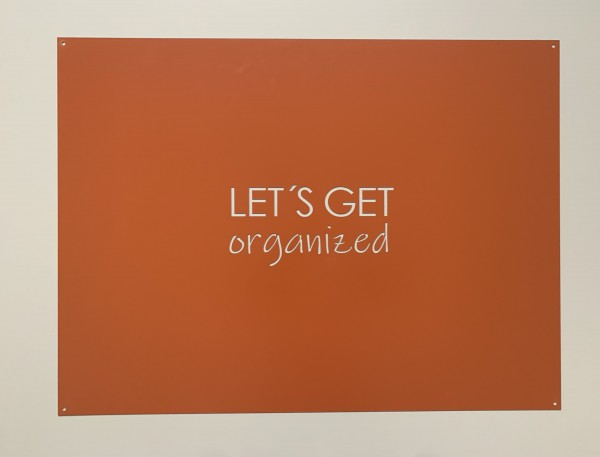 """Magnetwand """"Let´s get organized"""""""